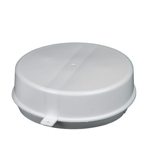 Snap plastic cap to seal drum